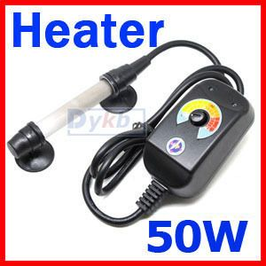 UP 50W Aquarium Mini Submersible glass Auto Heater W/ Control for Fish