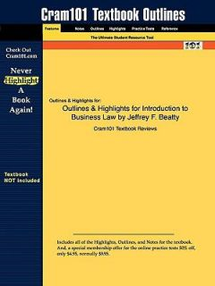 and Highlights for Introduction to Business Law by Jeffrey F Beatty