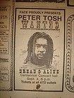 Peter Tosh World Tour Wanted Dread or Alive Concert Black Vintage T