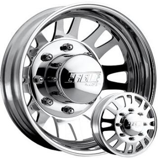 19.5x6 Polished American Eagle 56 Wheels 8x6.5 +0 DODGE RAM DUALLY