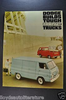 1967 Dodge A100 Compact Trucks Catalog Sales Brochure Van Pickup Near