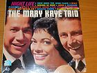 POP LP   THE MARY KAYE TRIO   20TH CENTURY FOX 3117   NIGHT LIFE