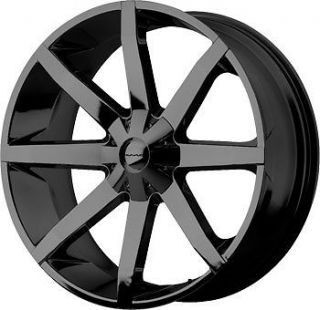 22 BLACK WHEELS TIRES 5X115 CHARGER MAGNUM CHRYSLER 300 RWD KMC SLIDE