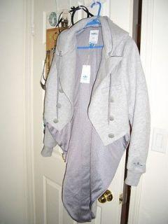 Adidas Jeremy Scott tuxedo jacket hoodie bones wing