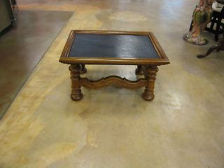 Vintage Semi Antique Small Slate Topped Coffee Table