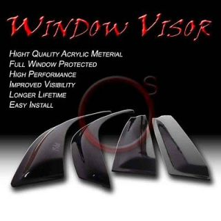 Crew Cab Chevy S10/GMC Sonoma Window Vent Sun Shade Rain Guard Visors