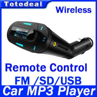 Wireless Remote Control Car Auto Kit  Player FM Transmitter SD USB