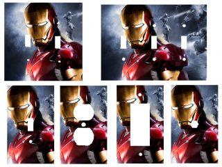 Iron Man Boys Room Decor Light Switch Covers Outlets Triple You Choose