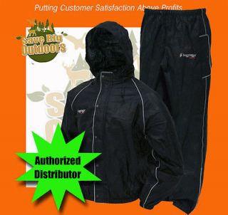 Black Frog Frogg Toggs Road Toads Toad Motorcycle Rain gear suit