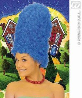 Ladies Tall Blue Beehive Wig Marge Simpson Pantomime Dame Fancy Dress