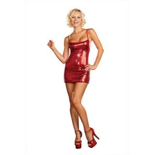 Sequin Dress (Red) Adult Costume Sequin Dress (Red),red