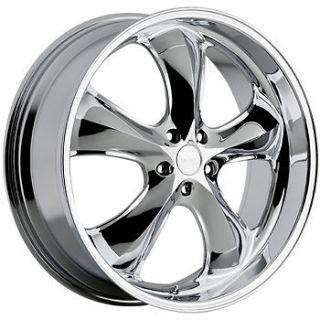 20x9.5 Chrome Incubus Shylock Wheels 5x4.5 +35 FORD FLEX EDGE MUSTANG