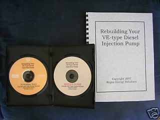 Diesel Injection Pump Rebuild DVD & CD Kit (Bosch VE)