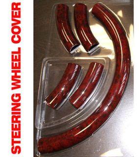 GMC Yukon 07 09 Red Wood Pattern Steering Wheel Cover Accessories