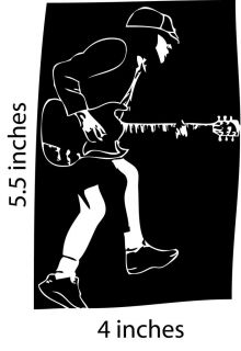 YOUNG ACDC Stickers Cut Vinyl Decal Marcus Hook Roll Gibson SG ACDC