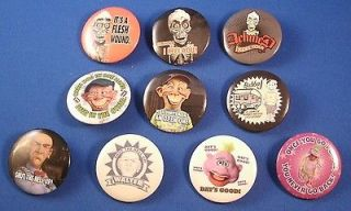 Jeff Dunham Bubba J Walter Achmed Peanut Set of 10 Pinback Buttons HT