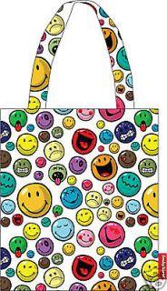 Girls Cute Smiley face shoulder bag Canvas backpack school bag Satchel