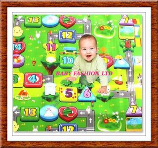 Baby/Toddler/Kids Play&Crawl Mats Supersize 200cm x180cm. 4 Designs