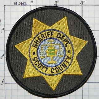IOWA, SCOTT COUNTY SHERIFF DEPT PATCH