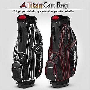 2013 New Adams Golf Mens Titan Cart Bag Black Red