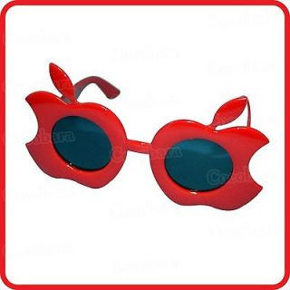 RED APPLES ADAM & EVE FORBIDDEN FRUIT GLASSES SUNGLASSES COSTUME PARTY