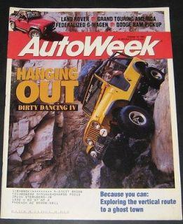 Autoweek Magazine 10/18/1993 Dirty Dancing IV, Dodge Ram, Land
