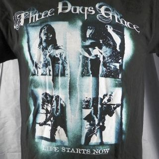 Three Days Grace Life Starts Now Tour 2010 T Shirt Medium Adam Gontier