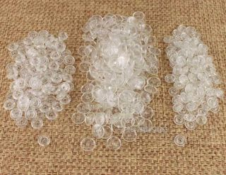100 Sets Clear Size 20 T5 KAM Resin Snap Buttons For Cloth Baby Bib