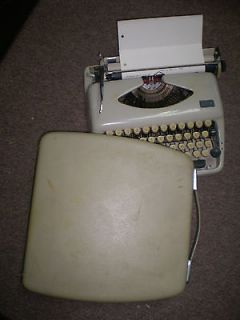 Vintage retro lovely grey ADLER TIPPA GRUNDIG German typewriter
