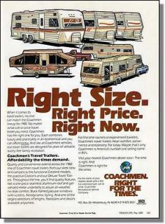 camper travel trailers   Right size right price right now print ad