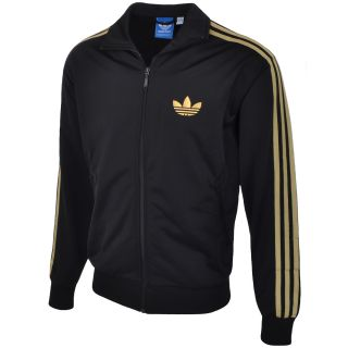Adidas Originals Mens Firebird Tracksuit Track Top Jacket   Black/Gold