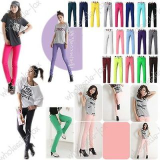 Candy Color Basic Low Waist Casual Slim Skinny Womens Pencil Pants