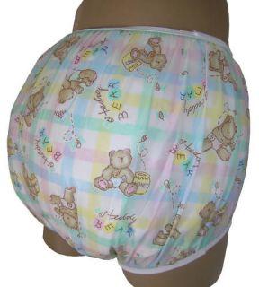 Baby Plastic Pants, Adult Sizes Honey Bear Bedwetter