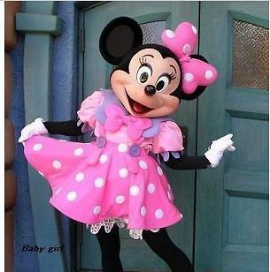 New Pink Minnie Mouse Mascot Costume Adult Size Fancy Dress Halloween