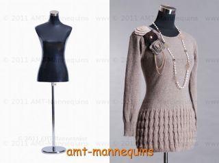torso pinnable adjustable stand.black fibric dress form  PH 88