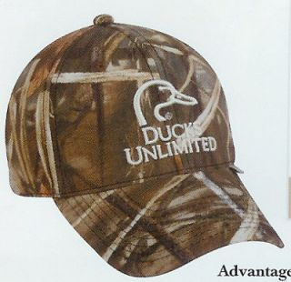 DUCKS UNLIMITED Advantage Max4HD Hunting Hat white logo