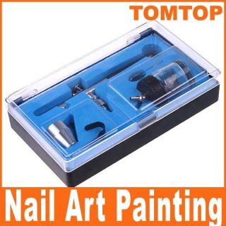 Dual action Air Brush Kit Paint Spray Gun Tool Craft Nail Art Cake