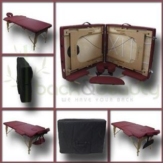 Newly listed Spa Portable Massage Table headrest width extensions face