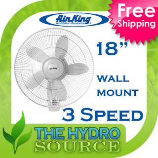 Air King 12 Oscillating Wall Mount Fan 12 inch   co2 air 3 speed