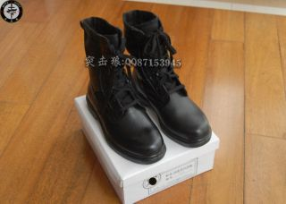 New China Army Mens Military Paratrooper Combat boots Black