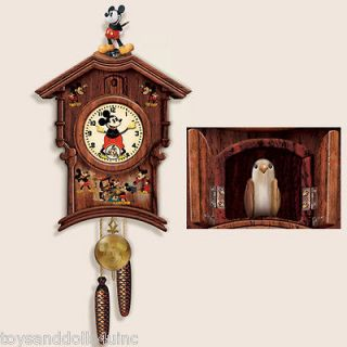 Vintage MEMORIES OF MICKEY Mouse wooden CUCKOO Clock