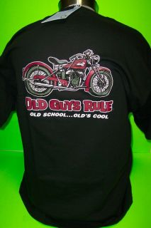 OLD GUYS RULE      OLD SCHOOL MOTORCYCLE        TEE SHIRTS ( NEW )