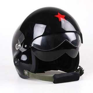Lens Open Face Motorcycle Scooter Air force Jet Pilot Flight Helmet