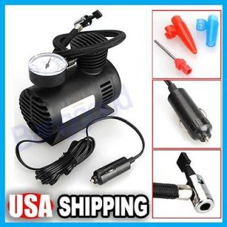 Auto Electric Portable Pump Air Compressor Tire Inflator Tool 100 PSI