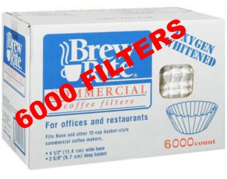 Brew Rite 48 101 12 cup coffee filters Bunn 20115 4.25 base 2.75 hi