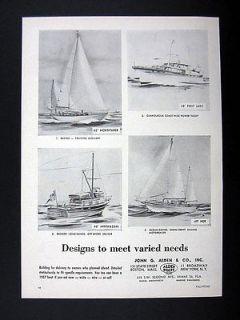 Alden Boats Cruising Auxiliary Power Yacht Off Shore Cruiser