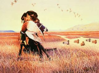 Hunting AP Edition Signed Numbered Ducks Unlimited Dowdy Labrador Dog