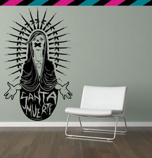 AK47 mary death muerte gun rifle heart nail wall decal