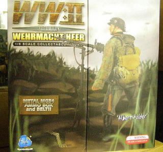 ALBERT HALDER SOLD OUT 1/6 DID 80030 GERMAN WWII w/ METAL MG34 MACHINE