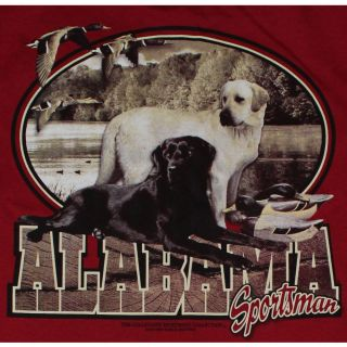 Alabama Crimson Tide Football T Shirts   Alabama Sportsman   Lab Dogs